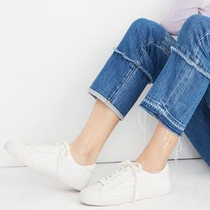 MADEWELL Sidewalk Low-Top White Leather Sneakers
